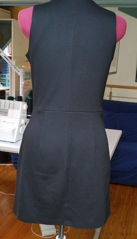 Dos de la robe à dupliquer