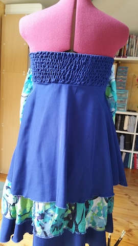 Réaliser une robe bustier avec smocks dans le dos