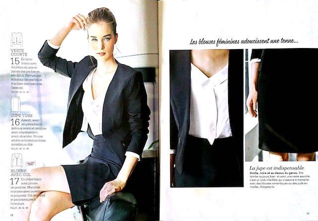 Jolis modèles de veste jupe et blouse à coudre