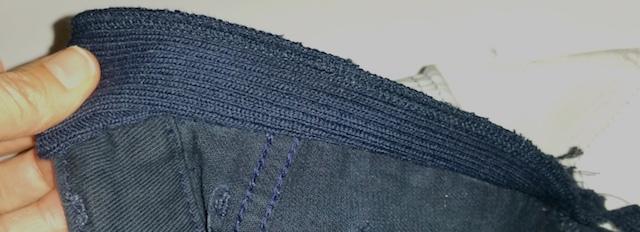 Faire une couture en pointe depuis la taille jusqu'aux hanches
