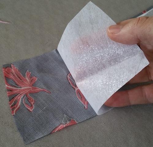 Fixer le thermocollant sur le tissu