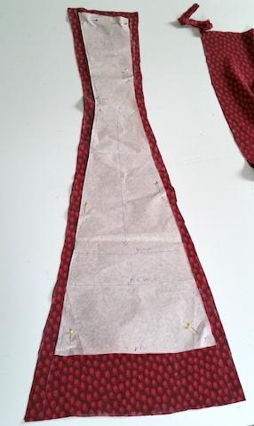 première partie dos de la robe
