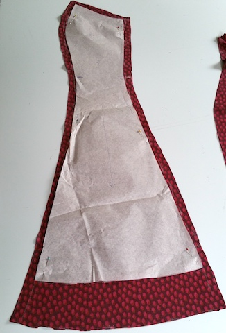 Pièce côté devant robe