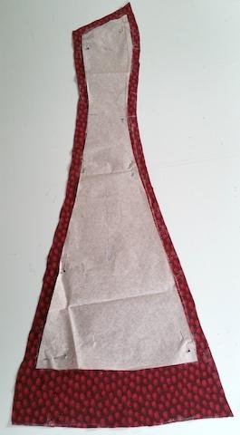 seconde pièce devant de la robe