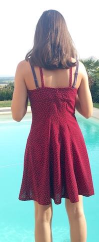 Coudre une robe évasée à bretelles