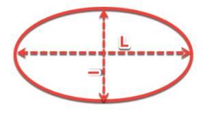 Prendre les dimensions d'une table ovale