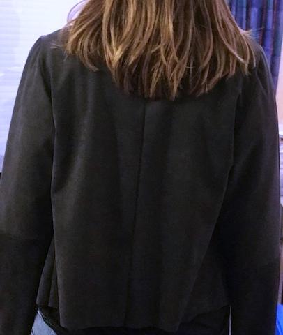 Réalisation d'une veste en alcantara