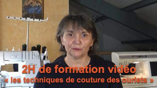 Formation vidéo technique de couture des ourlets